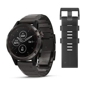 Мултиспорт GPS часовник Garmin fēnix 5 Plus Titanium с DLC Titanium каишка
